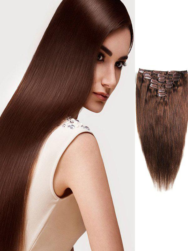Affordable Human Hair Straight Clip-in Hair Extensions