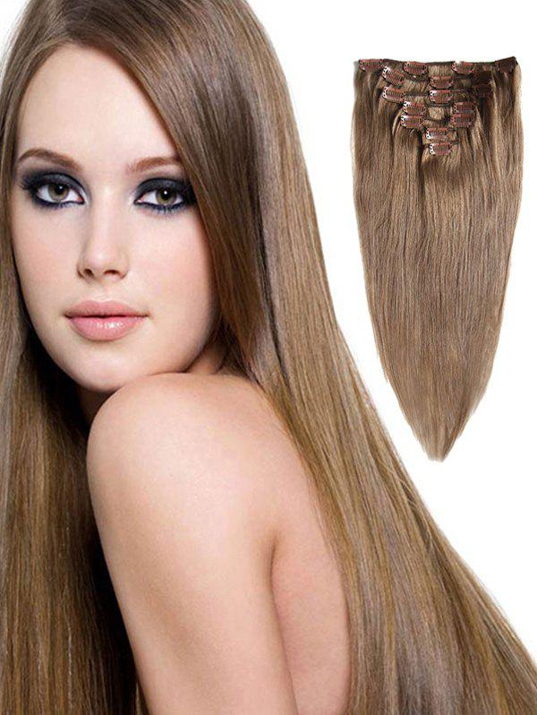 Store Real Human Hair Straight Clip-in Hair Extensions