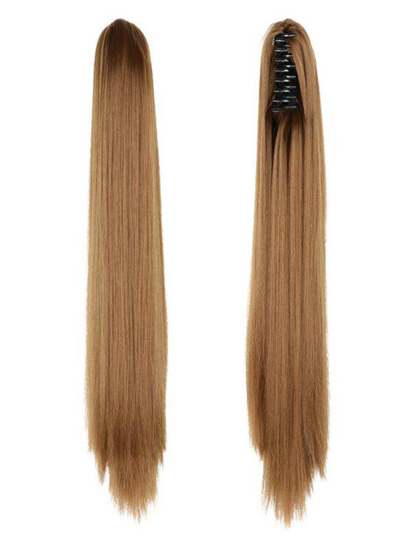 Hot Long Straight Synthetic Claw Clip in Ponytail