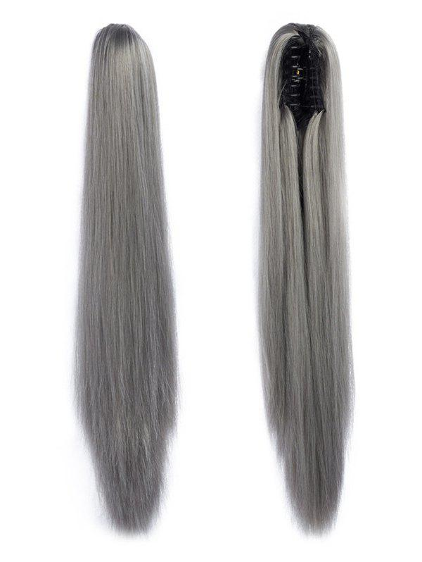 Shop Long Straight Synthetic Claw Clip in Ponytail