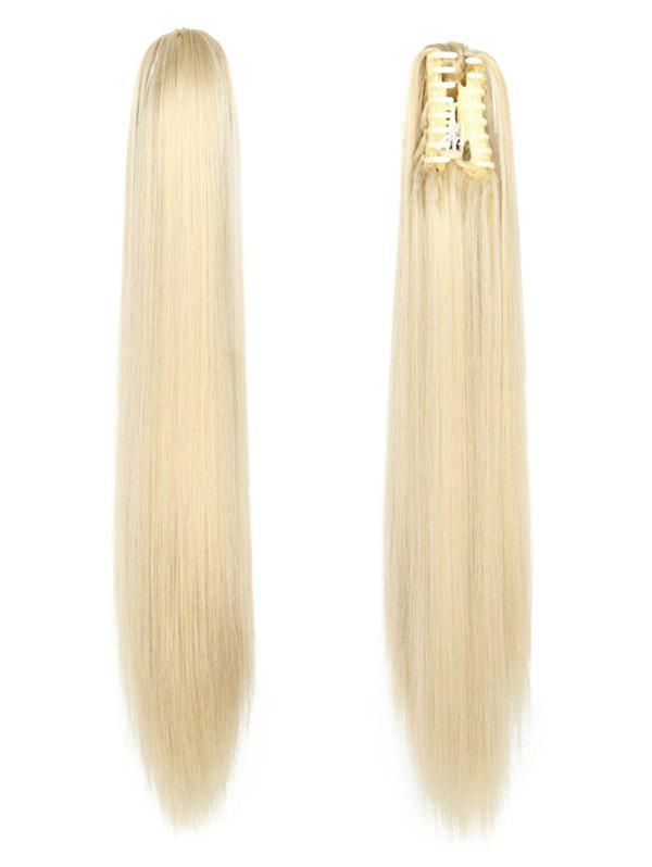Cheap Long Straight Synthetic Claw Clip in Ponytail