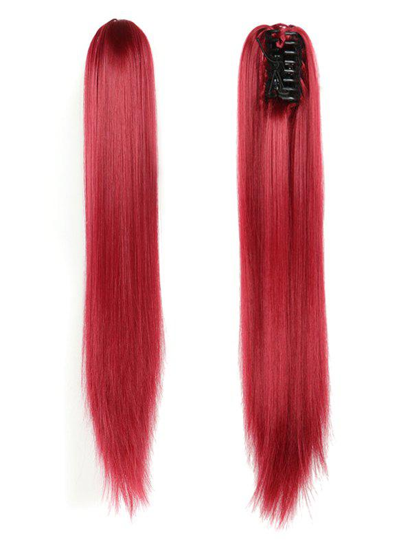 Discount Long Straight Synthetic Claw Clip in Ponytail