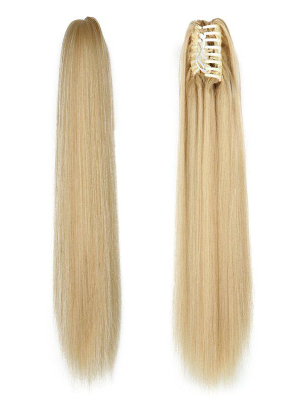 Outfits Long Straight Synthetic Claw Clip in Ponytail