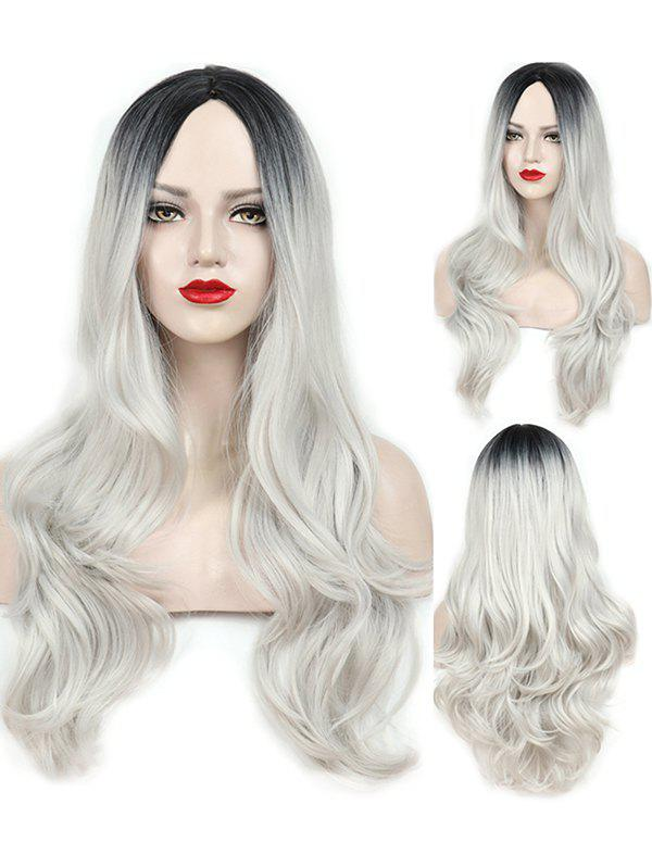 Fashion Middle Part Wavy Long Capless Party Synthetic Wig