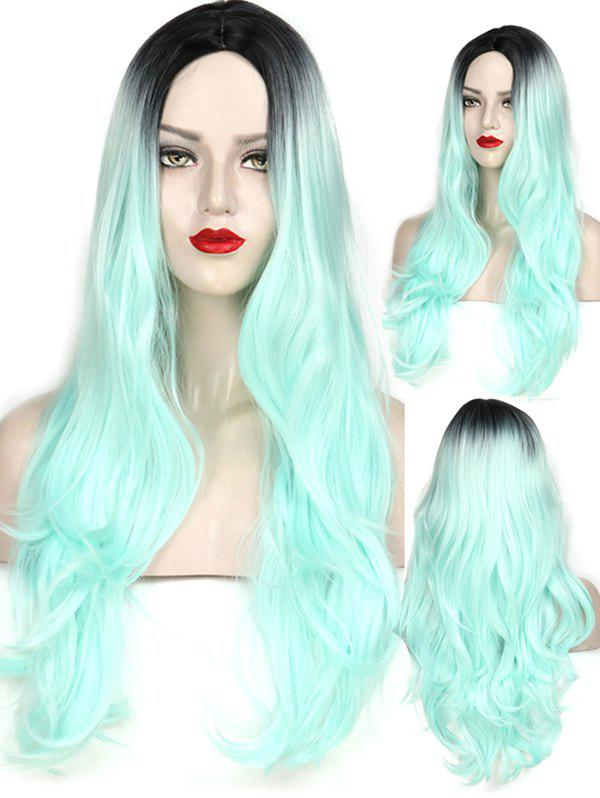 Trendy Middle Part Wavy Long Capless Party Synthetic Wig