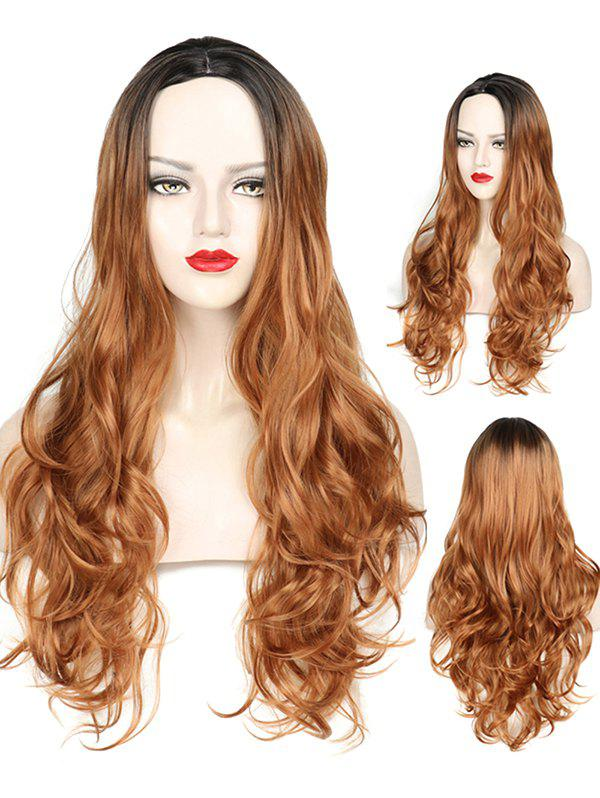 Chic Middle Part Wavy Long Capless Party Synthetic Wig