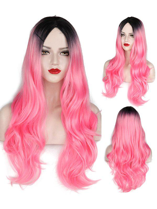 Shop Middle Part Wavy Long Capless Party Synthetic Wig