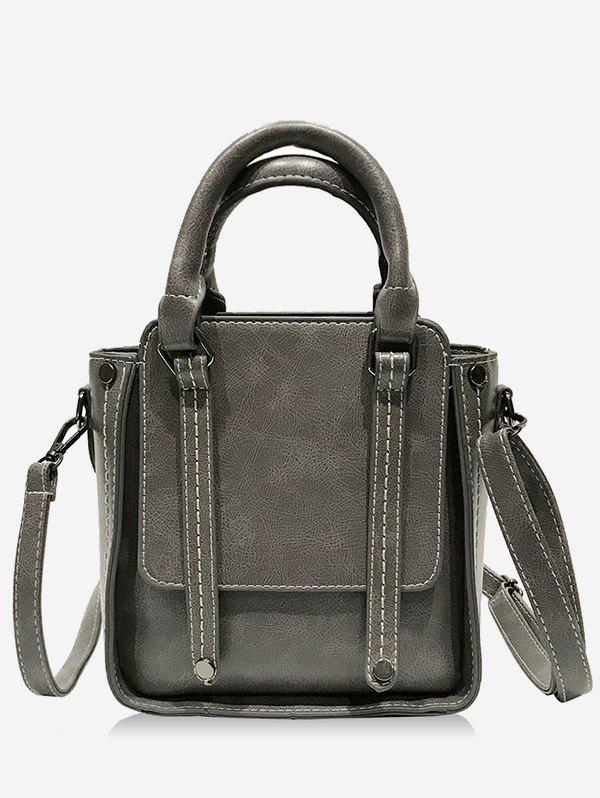 New Office Lady Style Solid Seam PU Handbag