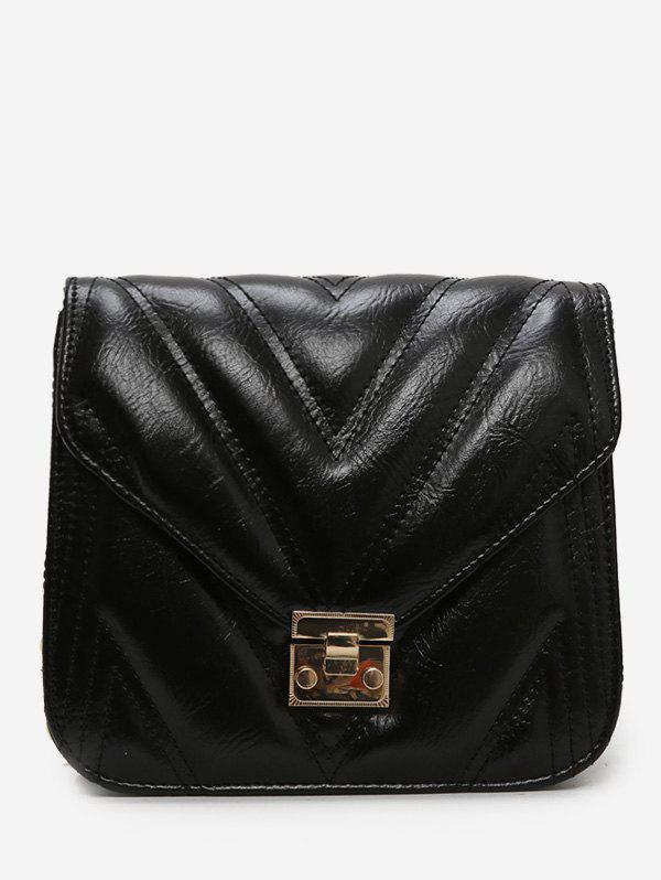 Shops Metal Hasp Square PU Crossbody Bag