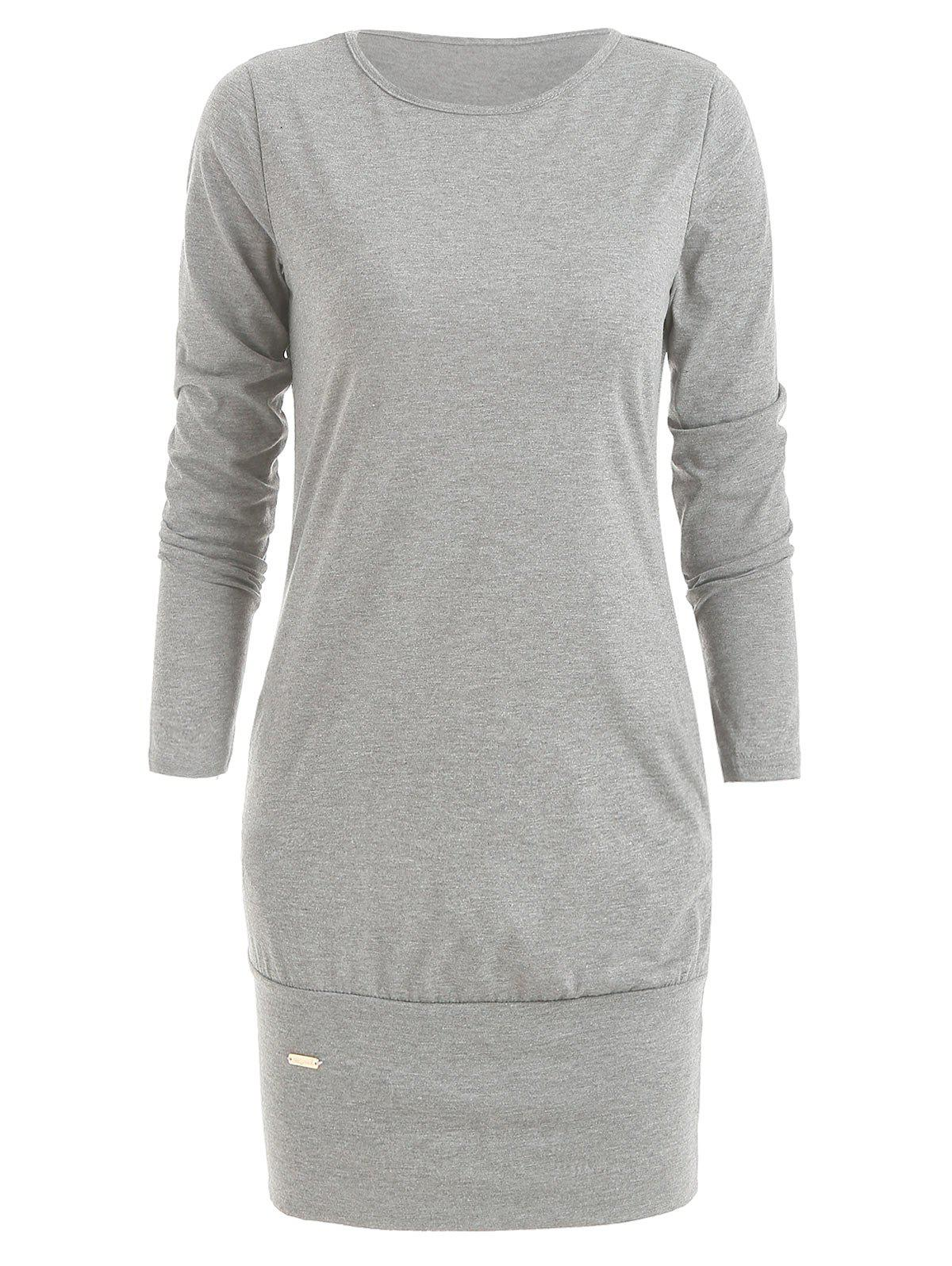Unique Long Sleeve Mini Casual Dress