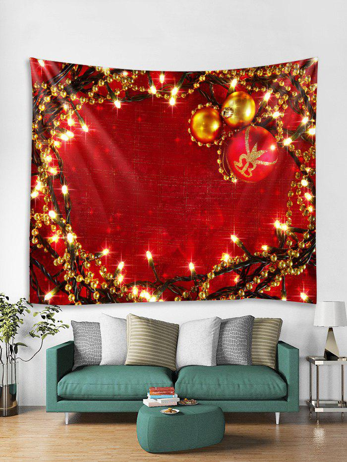 Online Christmas Balls Lights Print Tapestry Wall Hanging Art Decoration