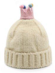 Crown Decoration Winter Flanging Hat -