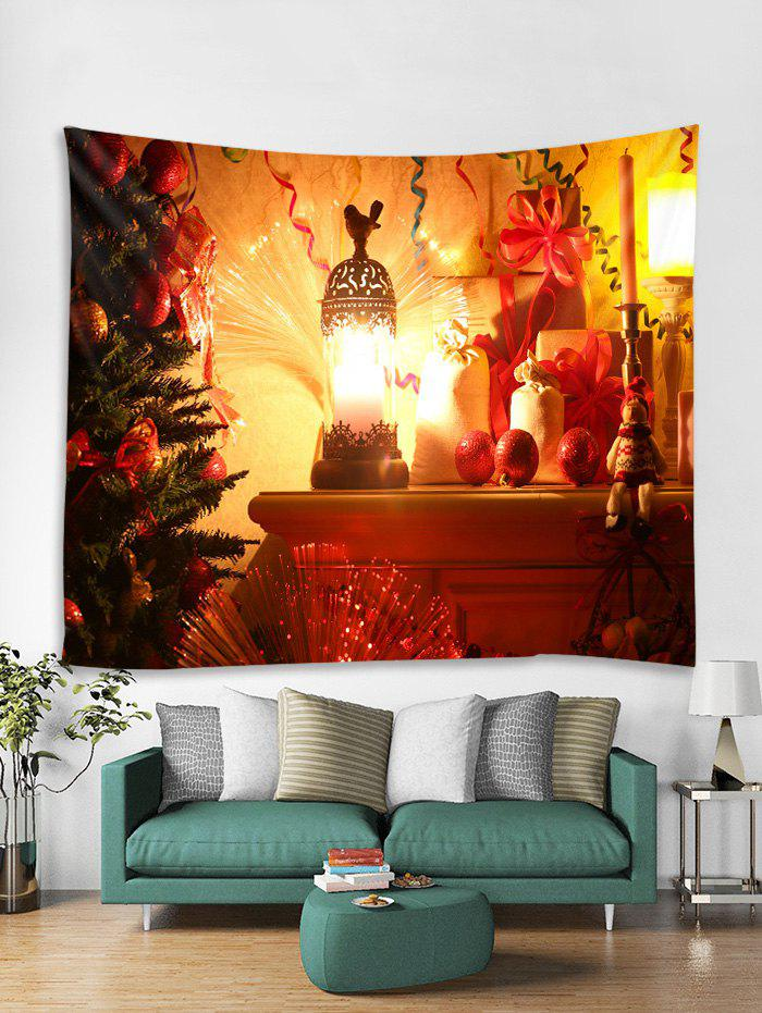 Chic Christmas Tree Lantern Print Tapestry Wall Hanging Art Decoration