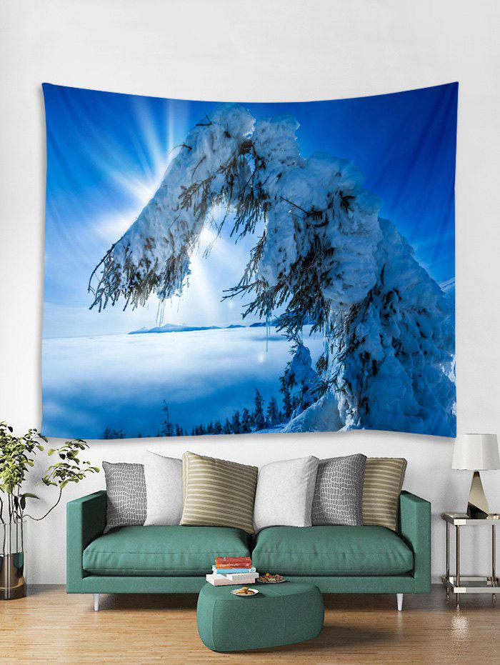 Hot Snow Trees Print Tapestry Wall Hanging Art Decoration