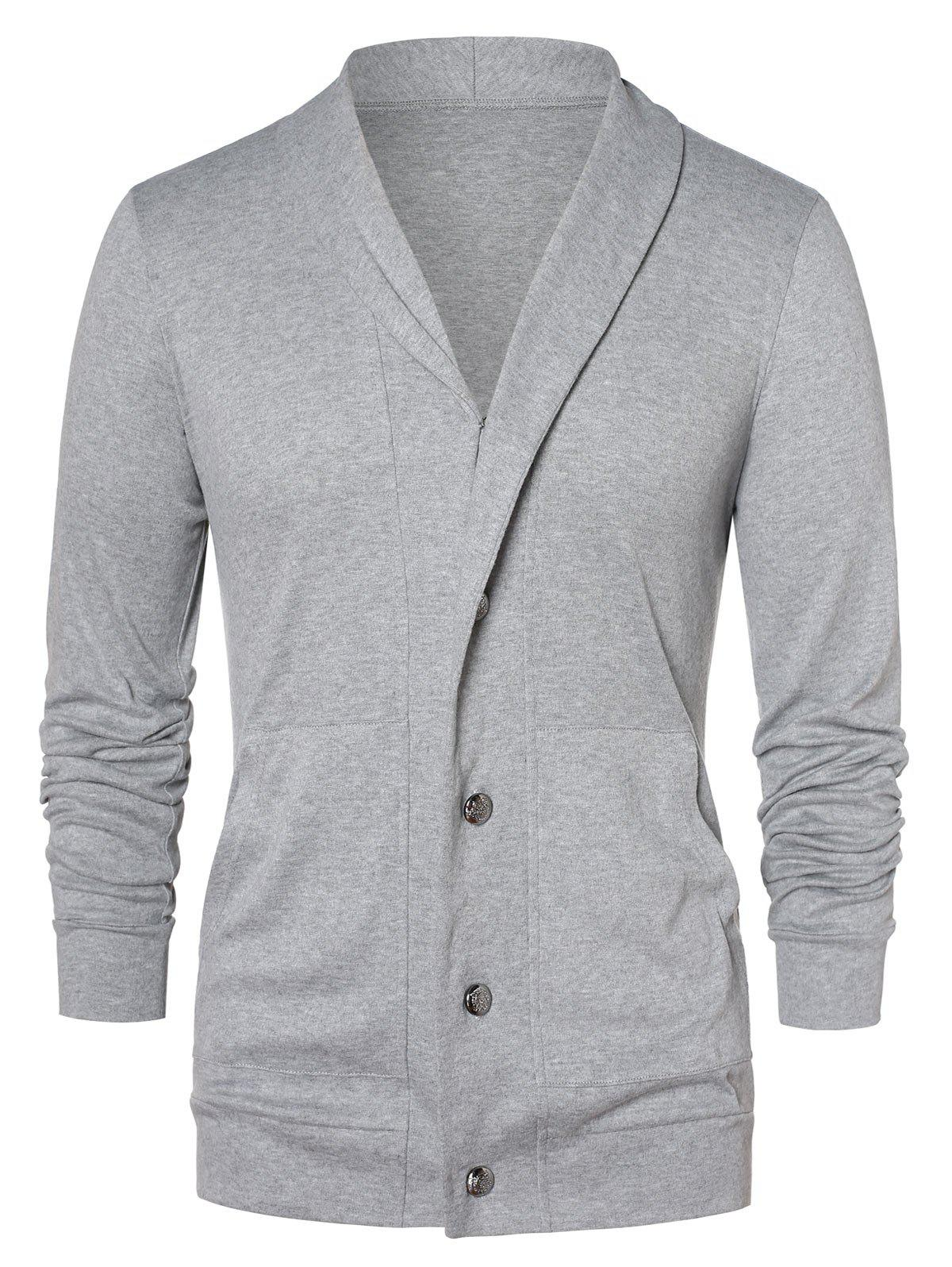 Shops Button Up Shawl Collar Cardigan