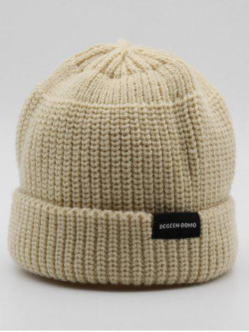Stylish Winter Flanging Knitted Beanie