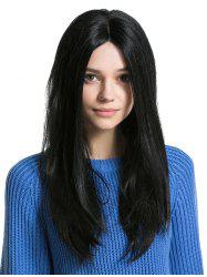 Middle Part Long Capless Straight Human Hair Wig -