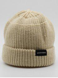 Stylish Winter Flanging Knitted Beanie -