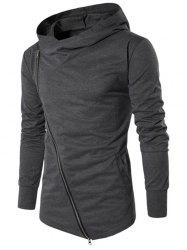 Solid Side Zipper Hooded Thin Jacket -