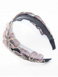 Flower Embroidered Lace Hair Band -
