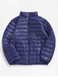 Zip Up Solid Warm Lightweight Padded Jacket -