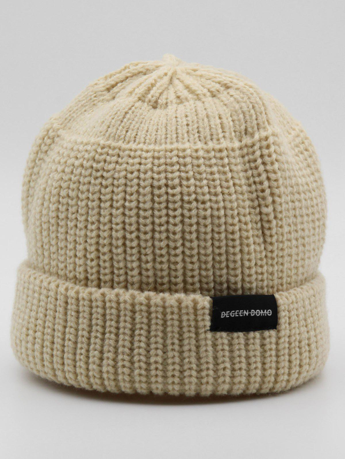 Discount Stylish Winter Flanging Knitted Beanie
