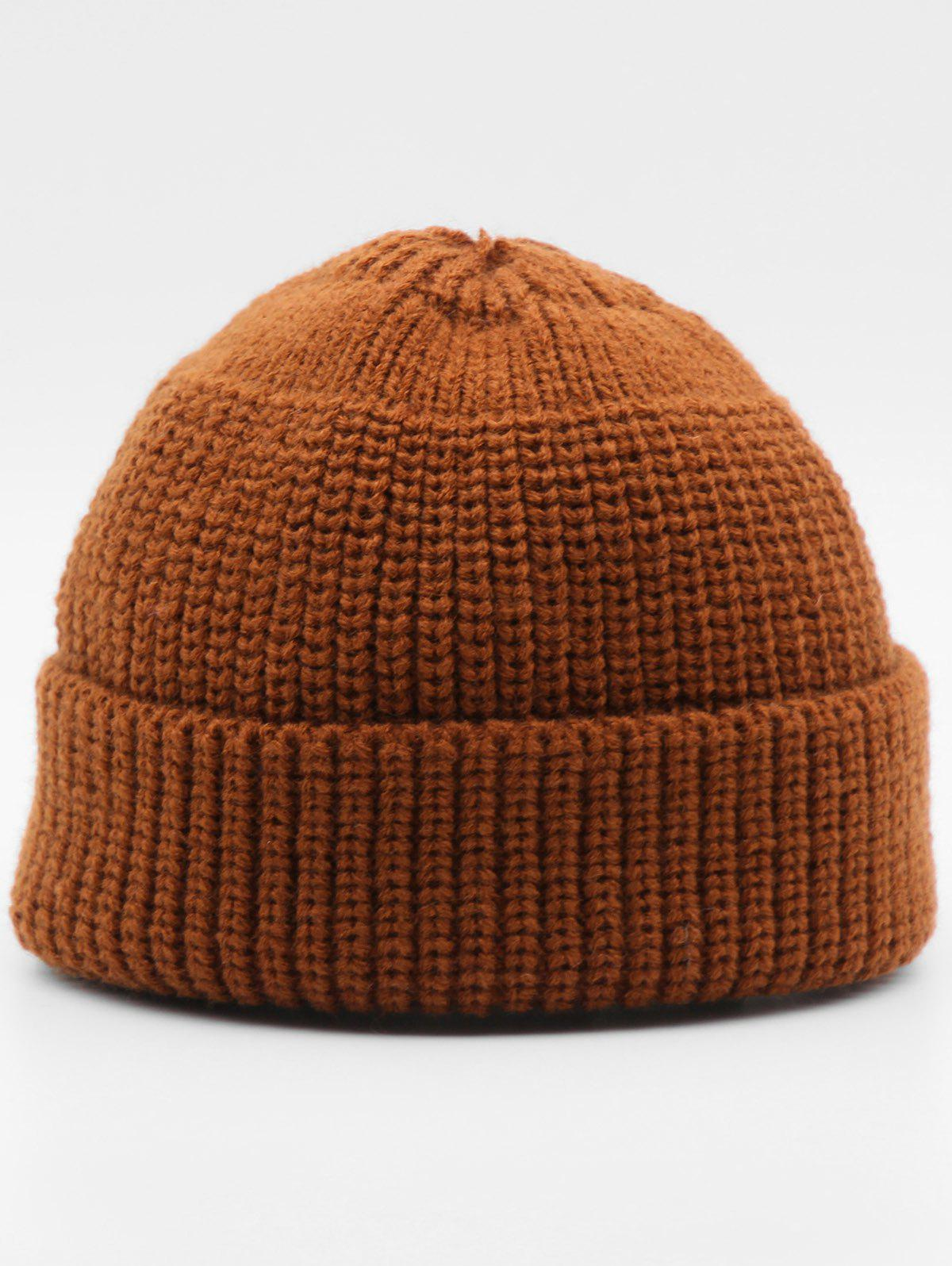 Outfit Stylish Winter Flanging Knitted Beanie