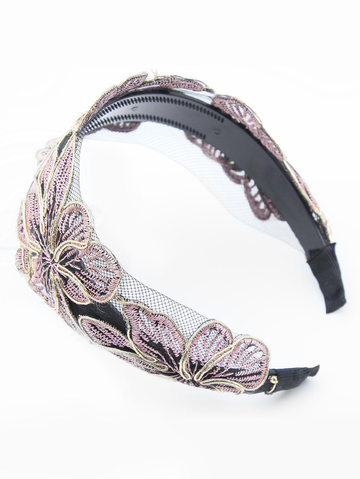 Unique Flower Embroidered Lace Hair Band