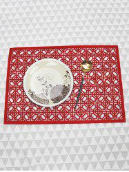 1PC Geometric Hollow Out Placemat -