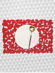1PC Solid Heart Pattern Placemat -