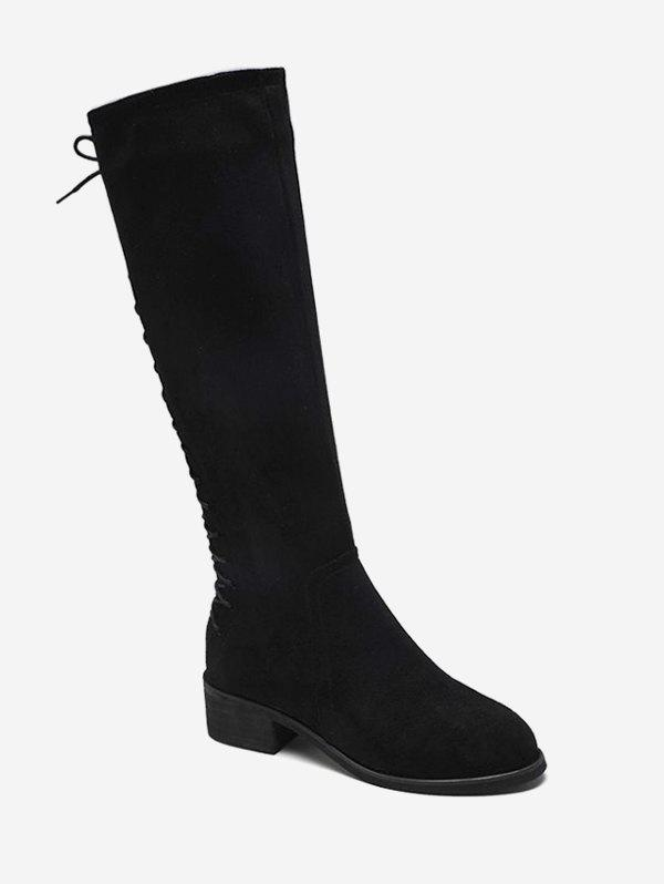 2ffd40090b5d Affordable Back Lace Up Knee High Boots