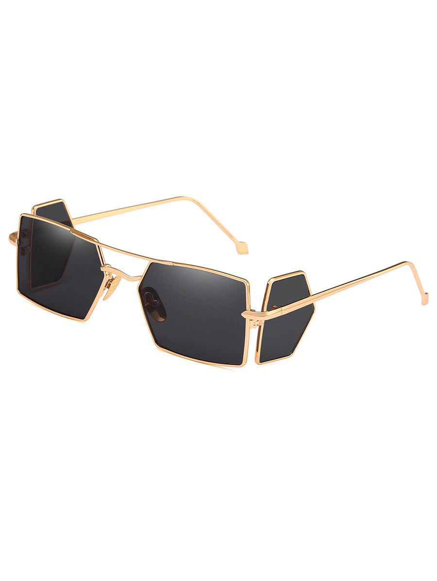 25606199cf 2019 Metal Light Frame Four Lens Rectangle Sunglasses