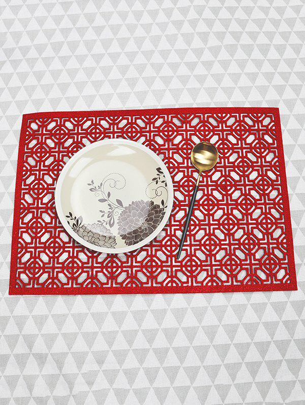 Online 1PC Geometric Hollow Out Placemat