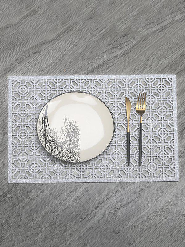 Trendy 1PC Geometric Hollow Out Placemat