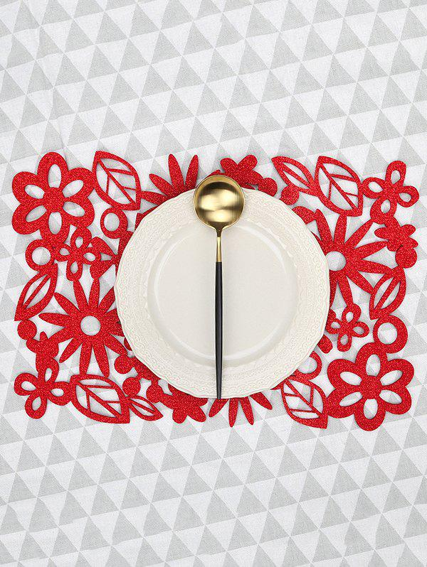 Buy 1PC Flower Leaf Pattern Placemat