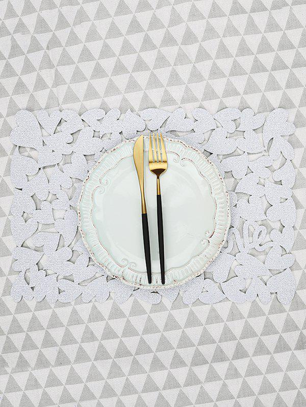 Hot 1PC Solid Heart Pattern Placemat