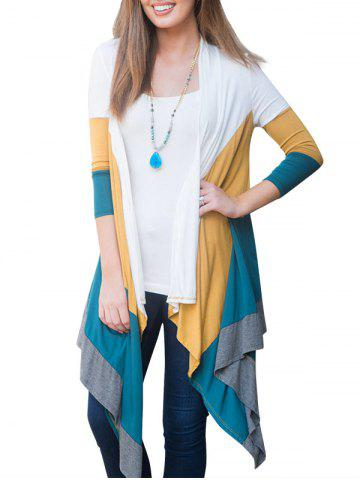 Asymmetric Drape Front Panel Cardigan