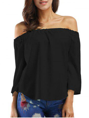 Bowknot Off The Shoulder Solid Top