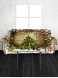 Merry Christmas Tree Pattern Couch Cover -