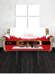 Merry Christmas Dress Pattern Couch Cover -