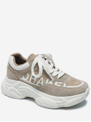 Letter Lacing Casual Platform Sneakers -