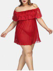 Plus Size Off The Shoulder Lingerie Babydoll -