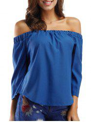 Bowknot Off The Shoulder Solid Top -