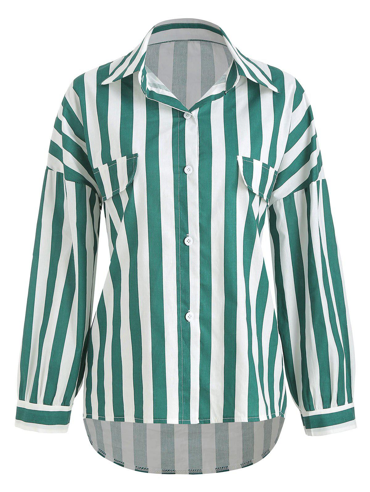 Affordable Striped Print Drop Shoulder Shirt