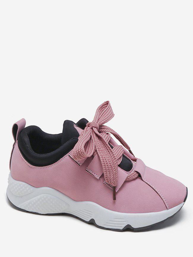 Trendy Wide Lace Running Sneakers