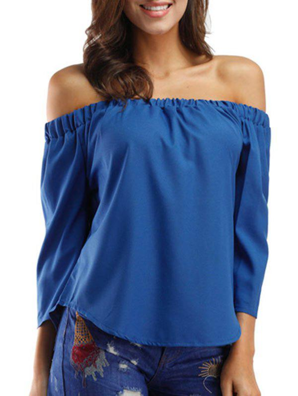 Sale Bowknot Off The Shoulder Solid Top