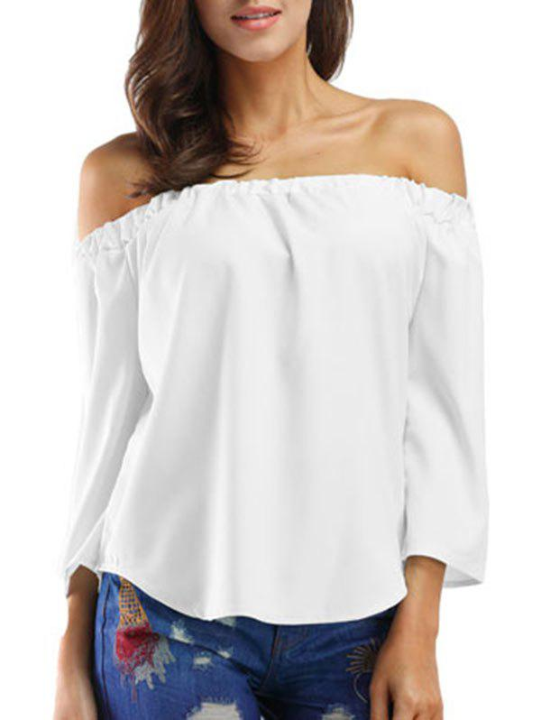 Fancy Bowknot Off The Shoulder Solid Top