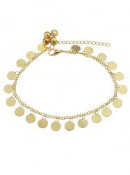 Plate Shape Metal Light Chain Anklet -