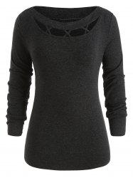 Cross Hollow Out Plus Size Knit Sweater -