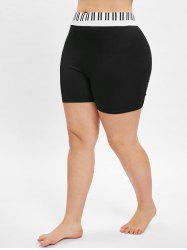 Stripe Plus Size Short Leggings -